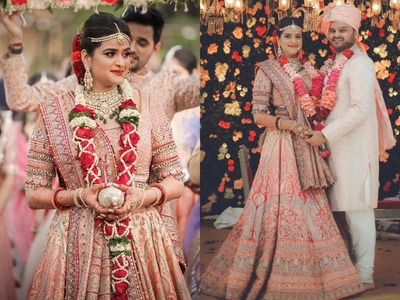 This bride wore an ombre hued LEHENGA SARI on her wedding and we can't take our eyes off her