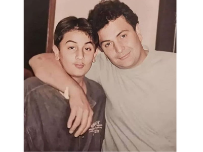 Adorable throwback pic of Ranbir & Rishi