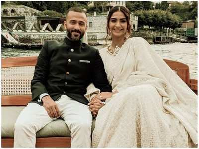 Anand adorably crashes Sonam's interview