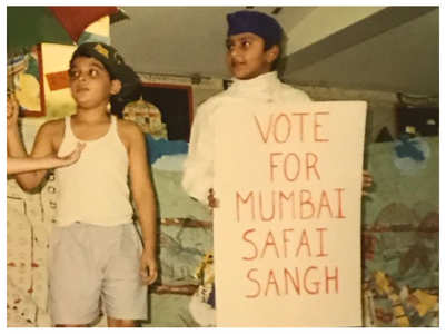 Childhood pic of Ranveer from school play