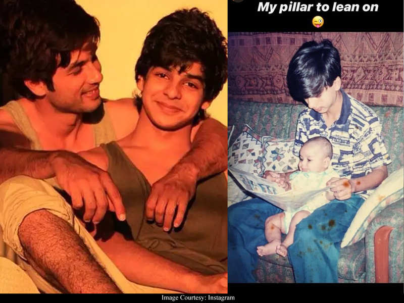 Ishaan Khatter shares an UNSEEN childhood photo with Shahid Kapoor and it is all things adorable!
