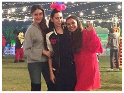 TBT: Kareena, Karisma & Rani pose for a pic