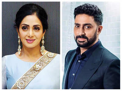 When Abhishek watched a movie with Sridevi