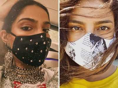 B-town celebrities step out in stylish designer masks