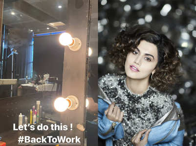 Taapsee is back to work amid COVID-19 crisis
