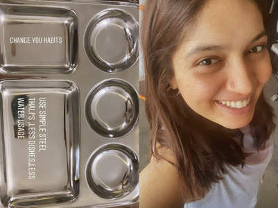 Bhumi urges people to use steel utensils