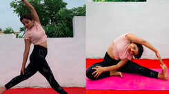 Actress Shilpa Thakre practices yoga to keep her body and mind healthy