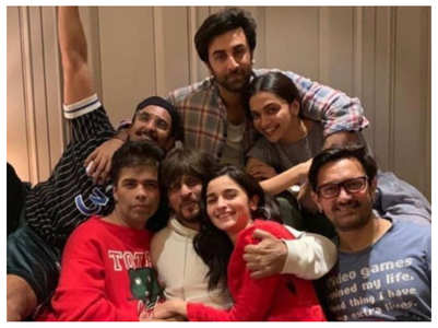 When SRK, Alia, Ranbir posed for an epic pic