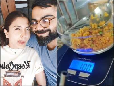 Anushka shares a video about measured eating