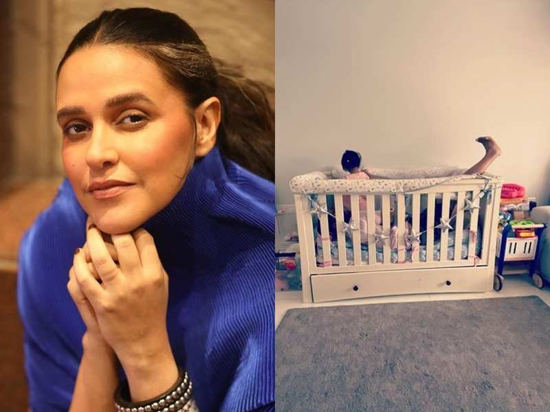 Neha Dhupia clicks hubby Angad Bedi taking up the entire space on daughter Mehr's bed;  says, 'I hear you baby girl'