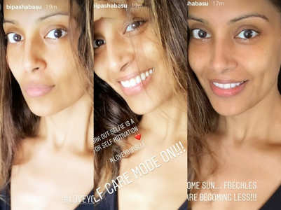 Bipasha's post-workout selfies