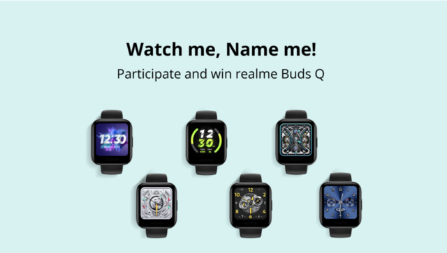 Realme wants you to name the watch faces of its smartwatch