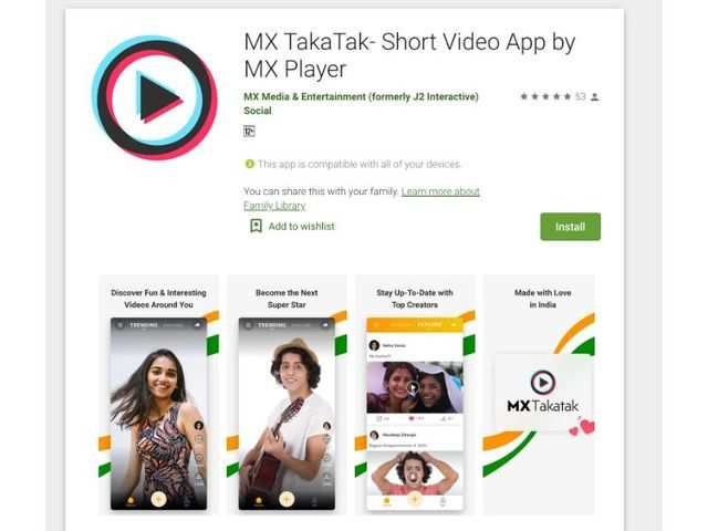 MX TakaTak, the new video app from MX Player, makes debut on Google Play Store
