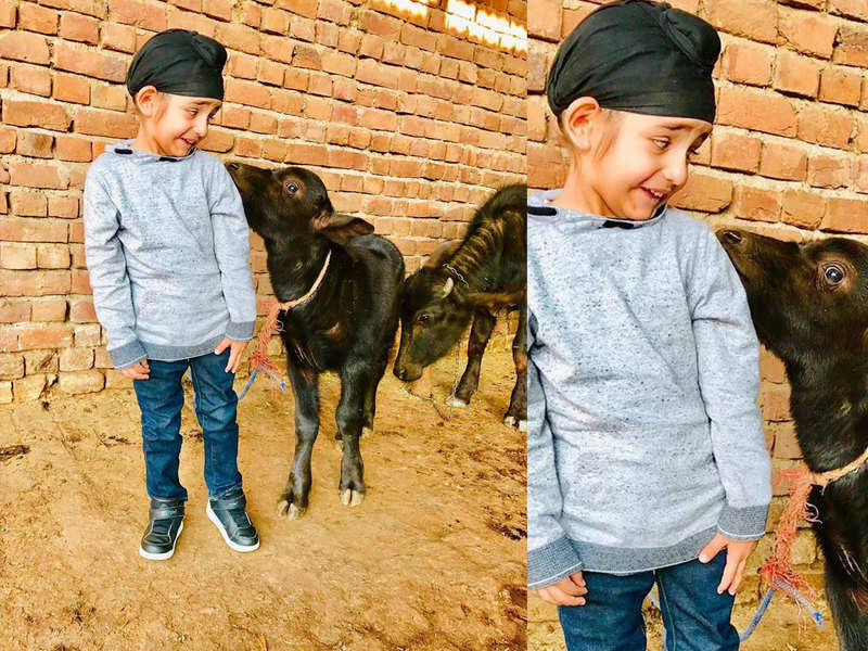 This picture of Gippy Grewal's son Gurfateh Singh Grewal is all things cute