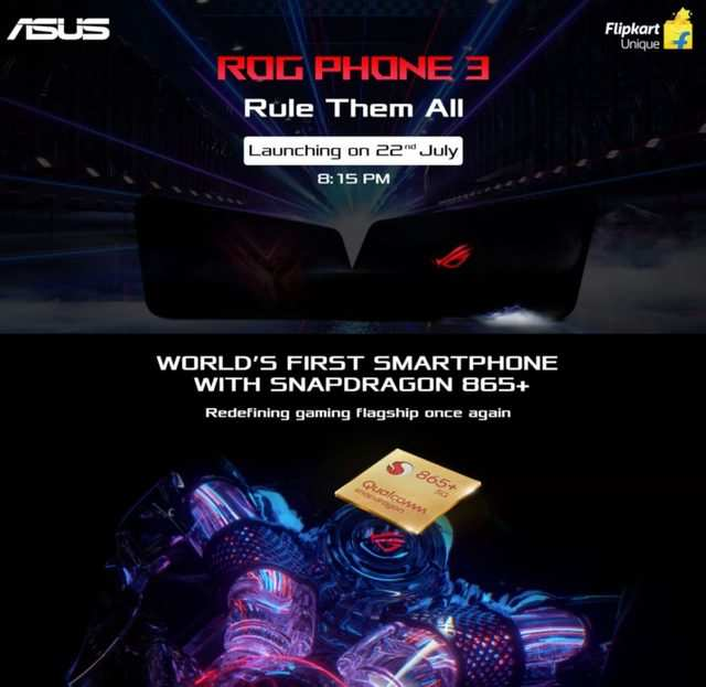 Asus ROG Phone 3 with Snapdragon 865+ to launch in India on July 22