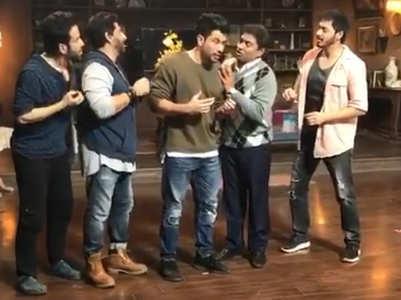 Kunal shares a BTS of 'Golmaal Again'