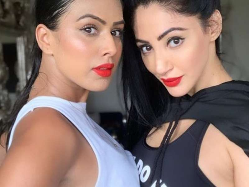 Nia Sharma and BFF Reyhna Pandit sport fiery lipsticks