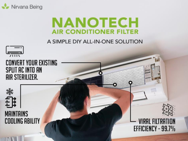 This filter claims to convert your split AC into an air sterilizer