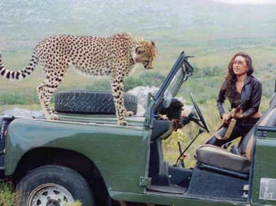 Flashback Friday: Karisma with a cheetah