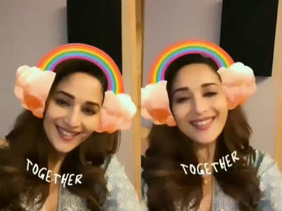 Watch a super adorable video of Madhuri Dixit