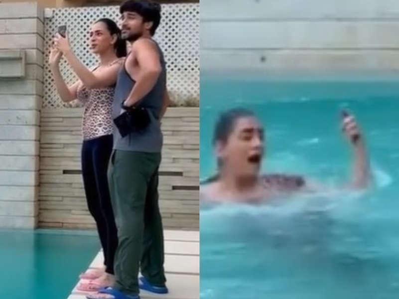 Smriti Khanna's phone gets damaged after prank goes wrong