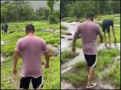 Watch: Salman enjoys a walk amid nature