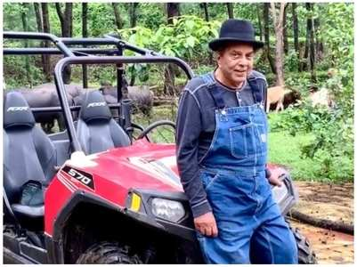 Dharmendra enjoys quality time amid nature