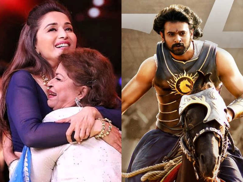 Image credit: Madhuri Dixit's Instagram account and Baahubali The Movie's Twitter account