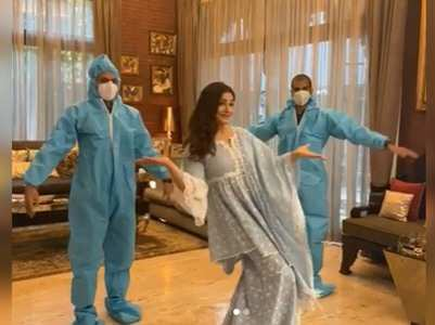 Raveena shoots an ad with social distancing