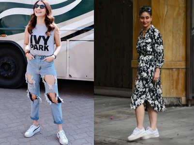 When B'wood ditched heels for sneakers