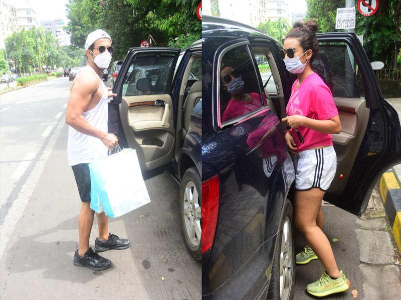 Pics: Rajkummar Rao and lady love Patralekha spotted in Mumbai