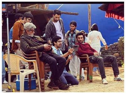 TBT: Ranbir-Amitabh on sets of 'Brahmastra'