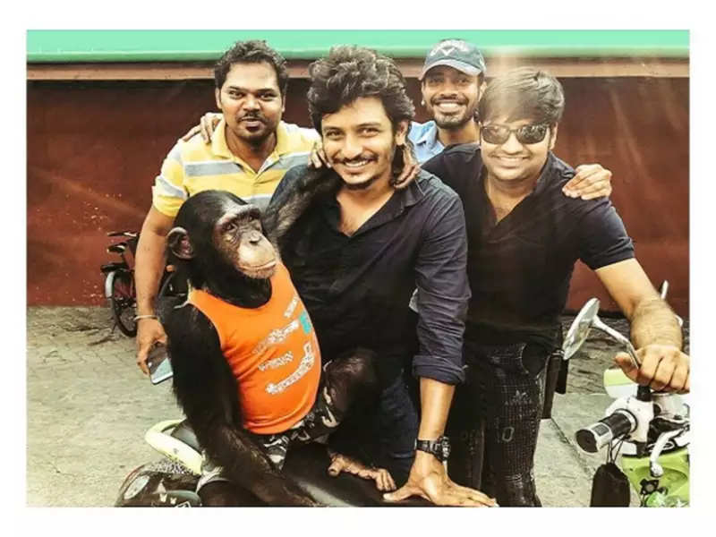 Sathish shares a video of him revealing how his dupe worked hard in Gorilla for a stunt scene