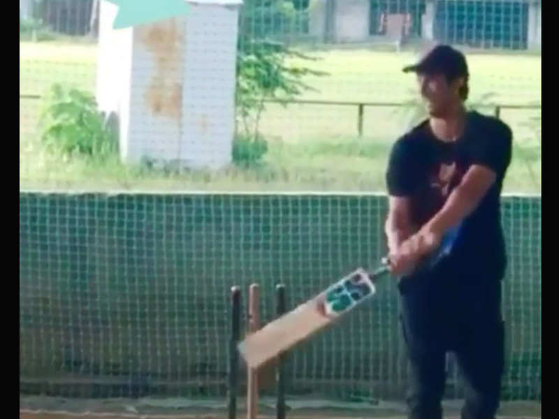 THIS throwback video of late Sushant Singh Rajput practicing MS Dhoni's helicopter will make you nostalgic
