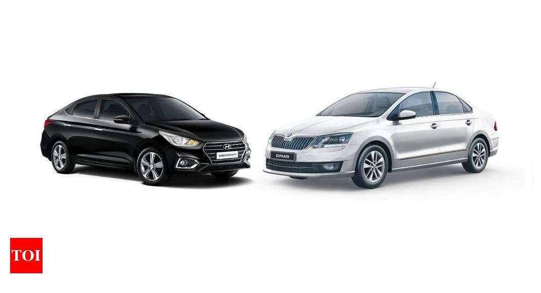 Hyundai Verna Turbo Hyundai Verna Turbo Vs Skoda Rapid Tsi Price And Performance Times Of India