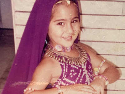 Sara shares cute unseen childhood pics