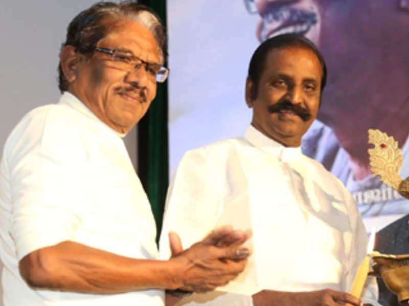 Bharathi Raja sends wishes to Vairamuthu on his 67th birthday, compares the veteran lyricist with the legendary Kannadhasan