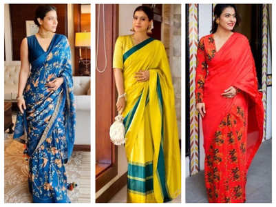 When Kajol impressed us with her saree looks