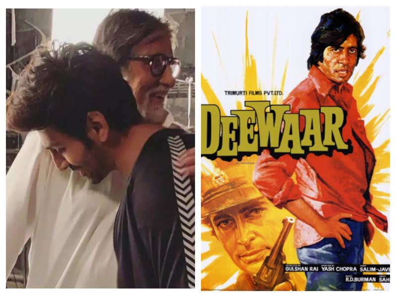 Did you know that Kartik Aaryan has an autographed poster of his all-time favourite Amitabh Bachchan film, 'Deewaar'?