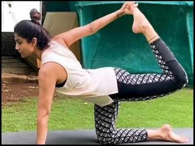 Shilpa shares glimpse of her morning workout