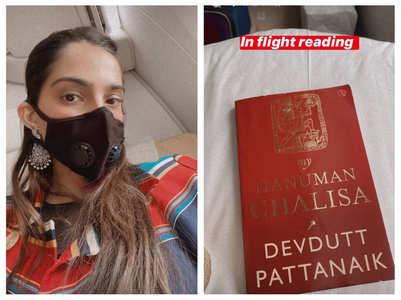 Sonam K Ahuja shares an airplane selfie