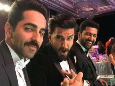 Throwback: Ranveer, Ayushmann & Vicky selfie