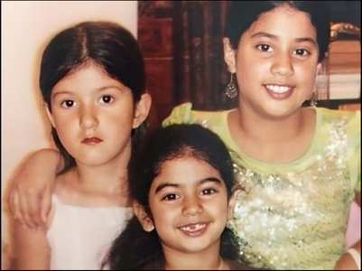 Childhood pic of Janhvi, Khushi & Shanaya