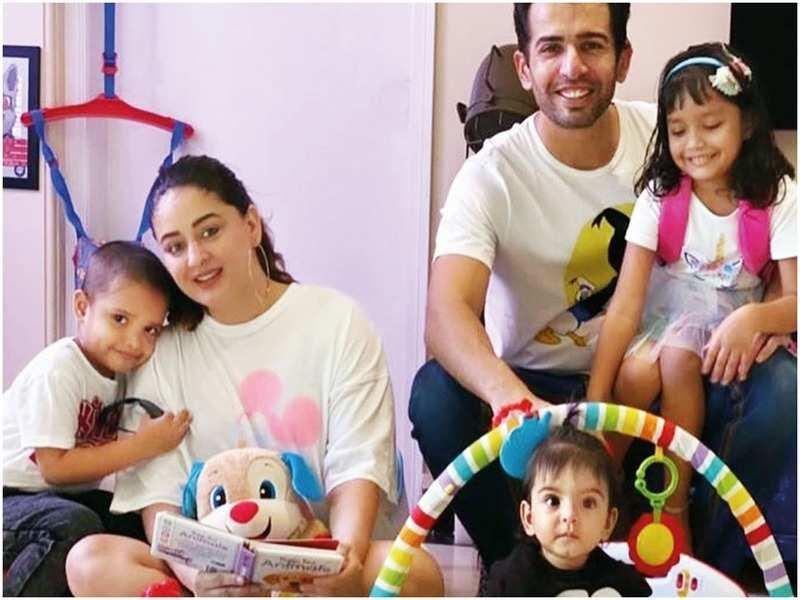 Mahhi and Jay Bhanushali with Khushi, Rajveer and Tara (Instagram)