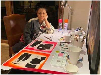 Here's a glimpse of Gauri Khan's work studio