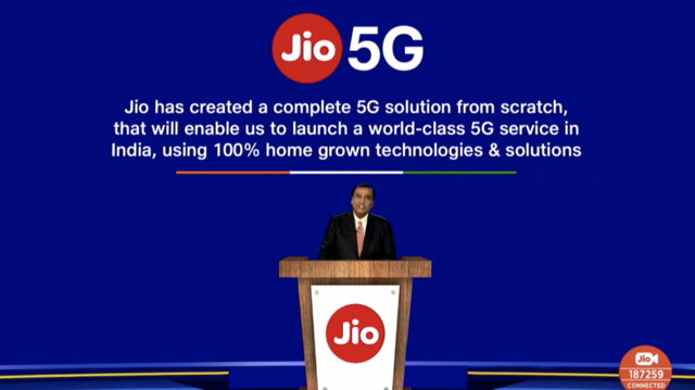 Reliance Jio announces made in India 5G network