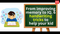 From improving IQ to memory, 6 handwriting tricks that can help your kid