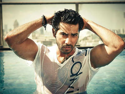 Varun shares a throwback pool picture