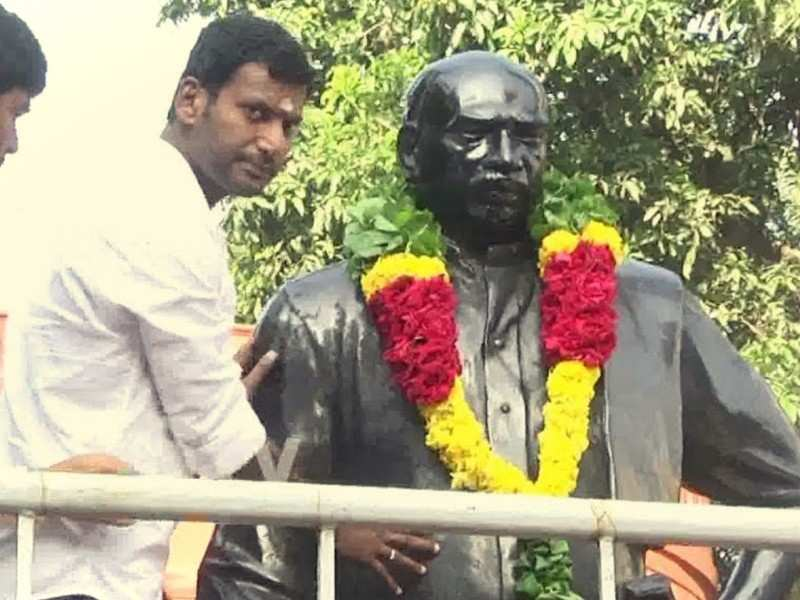 Vishal deletes his tweet for K Kamaraj's birth anniversary in minutes to share another post; screenshot goes viral!