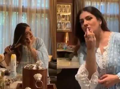 Raveena shares BTS videos of her ad shoot